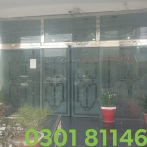 Automatic Sliding Glass Door Operator installed at Head Office of renowned Housing Society, located in Lahore.
