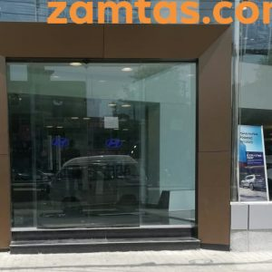 Automatic Sliding Glass Door Operator installed at Hyundai Showroom located at Jail Road Lahore.