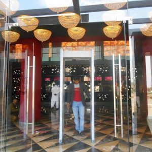 glass auto swing door